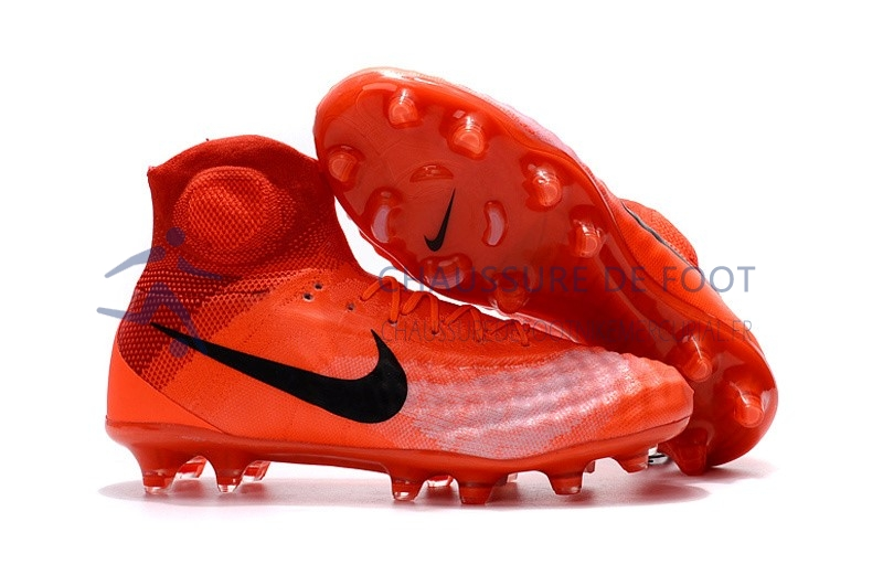 Nike Magista obra II FG Orange Noir Rouge